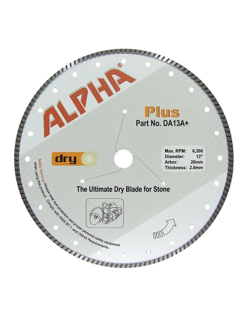 Alpha Plus Diamond Blade 12in