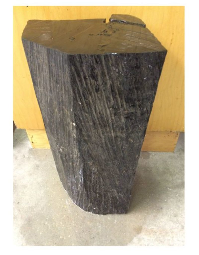 "Wood Ebony Log 16""x9""x7"" #011002"