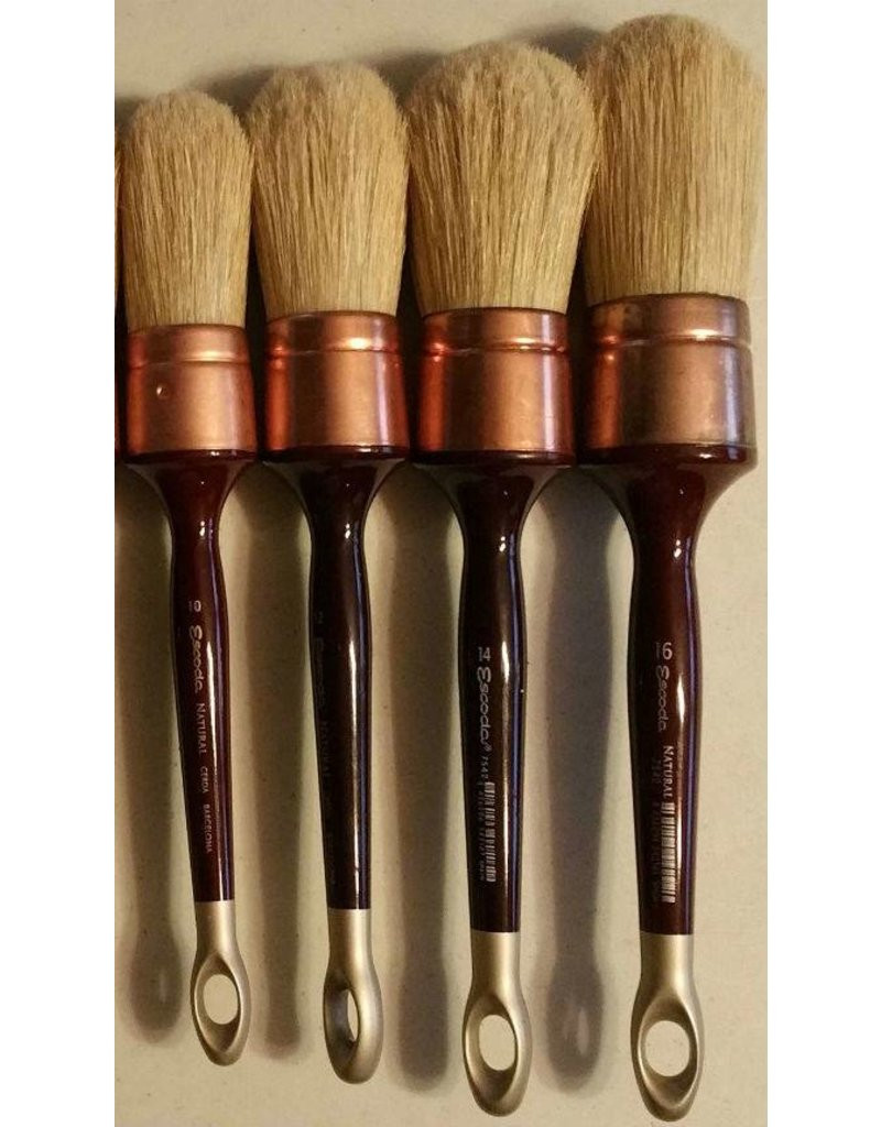 Escoda 7542 Size#14 Patina Brush Oil & Acrylic Natural Chungking Bristle Paint Brush Round Domed