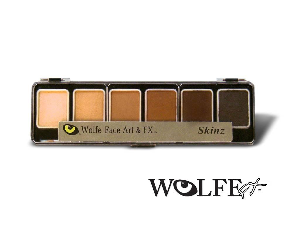 Wolfe Face Art & FX Hydrocolor Skinz 6 Color Palette