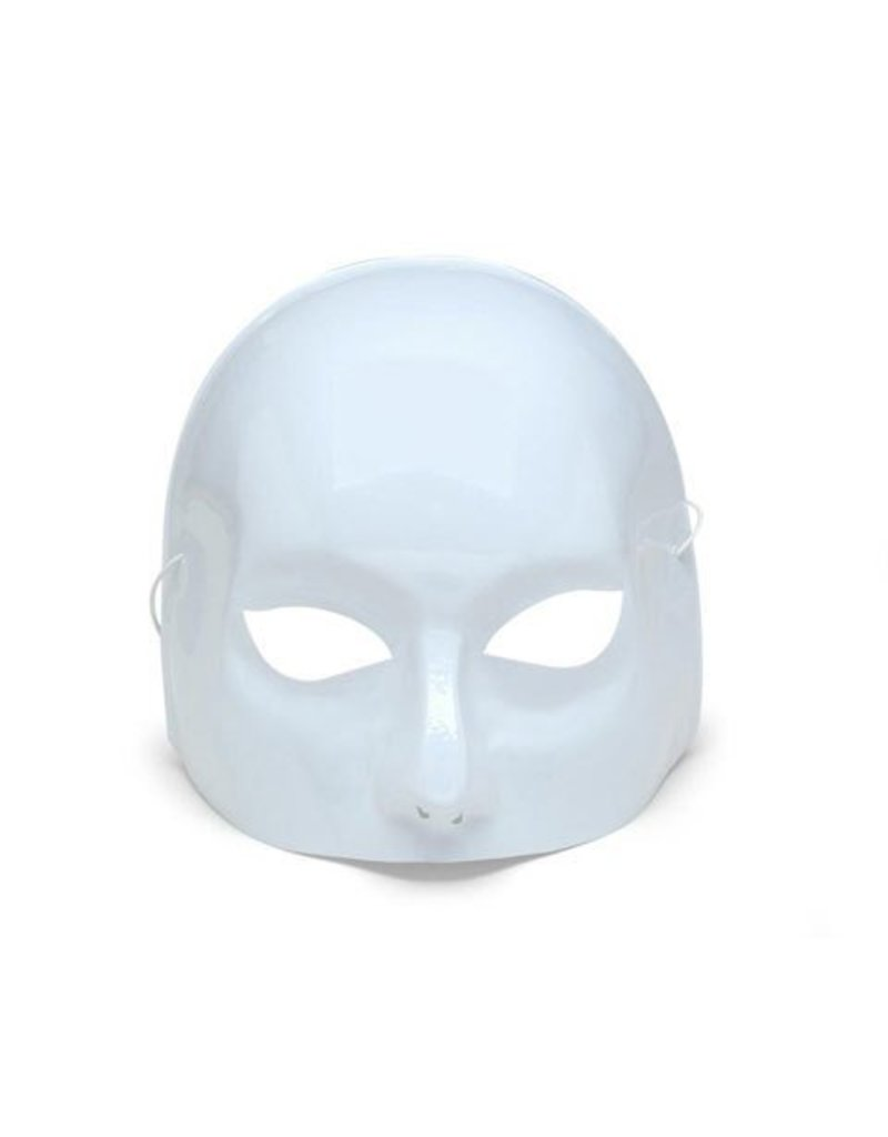 Plastic Half Face Mask - White