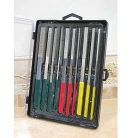 Diamond Flat Glass File Set Fine 10pc boxset