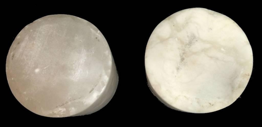 """Stone 5-1/4""""d x 4-1/2""""h White Alabaster Cylinder #221012"""