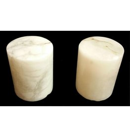 "Mother Nature Stone 4-3/4""d x 6""h White Alabaster Cylinder #221010"