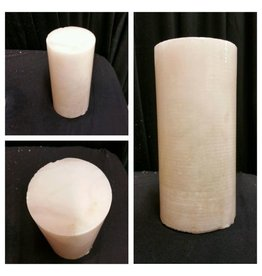 "Mother Nature Stone 3-3/4""d x 8-1/2""h White Alabaster Cylinder #221052"