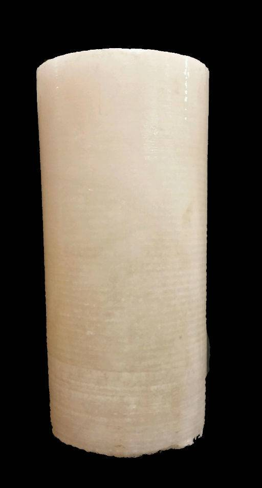 """Stone 3-3/4""""d x 8-1/2""""h White Alabaster Cylinder #221052"""