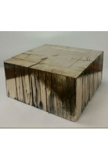 Chrome Wood Base Gold 11x11x5.5