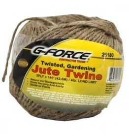 G-Force 140' 3-Ply Natural Jute Twine Medium Weight Roll