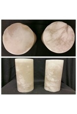 """Mother Nature Stone 4-3/8""""d x 7""""h White Alabaster Cylinder #221018"""