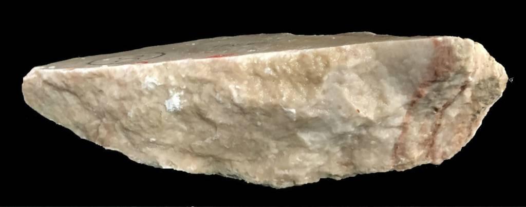 Stone 8lb Peach Translucent Alabaster 11x5x3 #251021