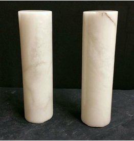 "Mother Nature Stone 2-7/8""d x 9-1/2""h White Alabaster Cylinder #221020"