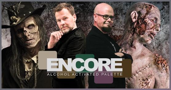European Body Art Encore Alcohol Palette - SKT Dark w/Adjusters