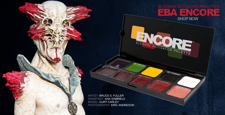 European Body Art Encore Alcohol Palette - SKT Light To Dark
