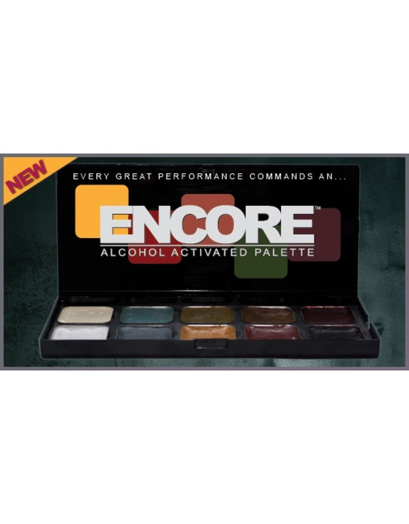 European Body Art Encore Alcohol Palette - SKT Light To Dark
