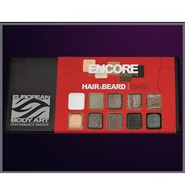 European Body Art Encore Hair & Beard Palette - Dark
