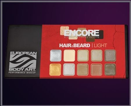 European Body Art Encore Hair & Beard Palette - Light