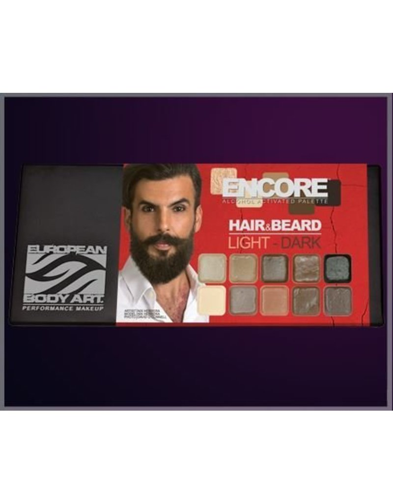European Body Art Encore Hair & Beard Palette - Light to Dark
