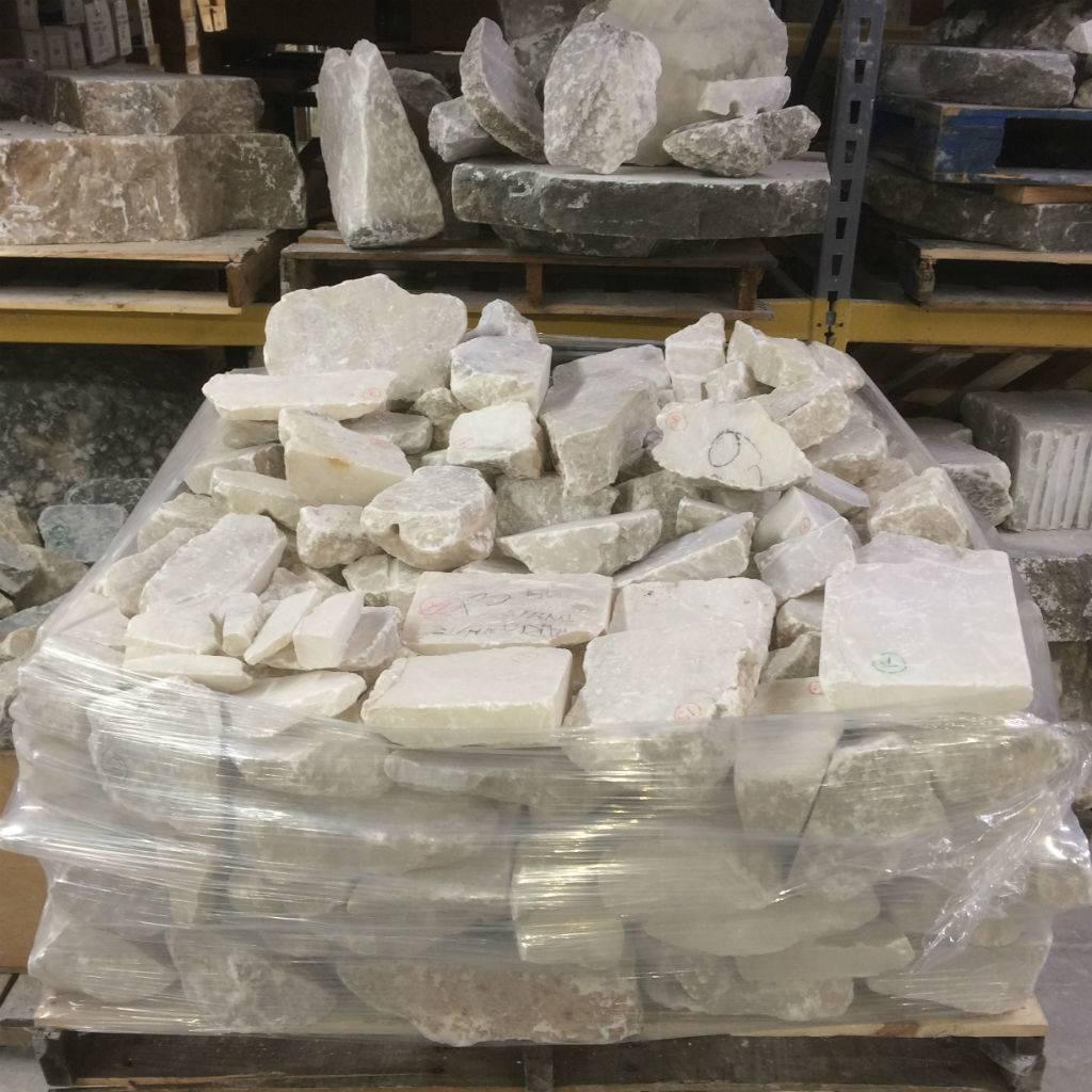 Stone Mario's Italian White Translucent Alabaster Boulder Per Pound