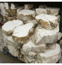 Mother Nature Stone Tirafsci's White Opaque Alabaster Slab Per Pound