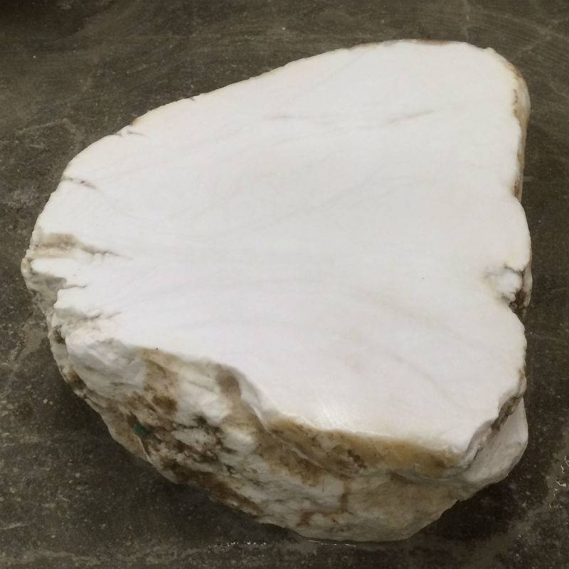 Stone Tirafsci's White Opaque Alabaster Slab Per Pound