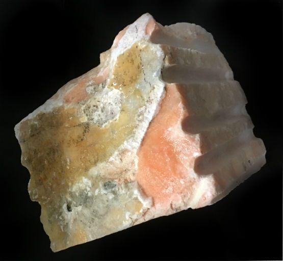 Stone 59lb Peach Translucent Alabaster 10x10x8 #251030