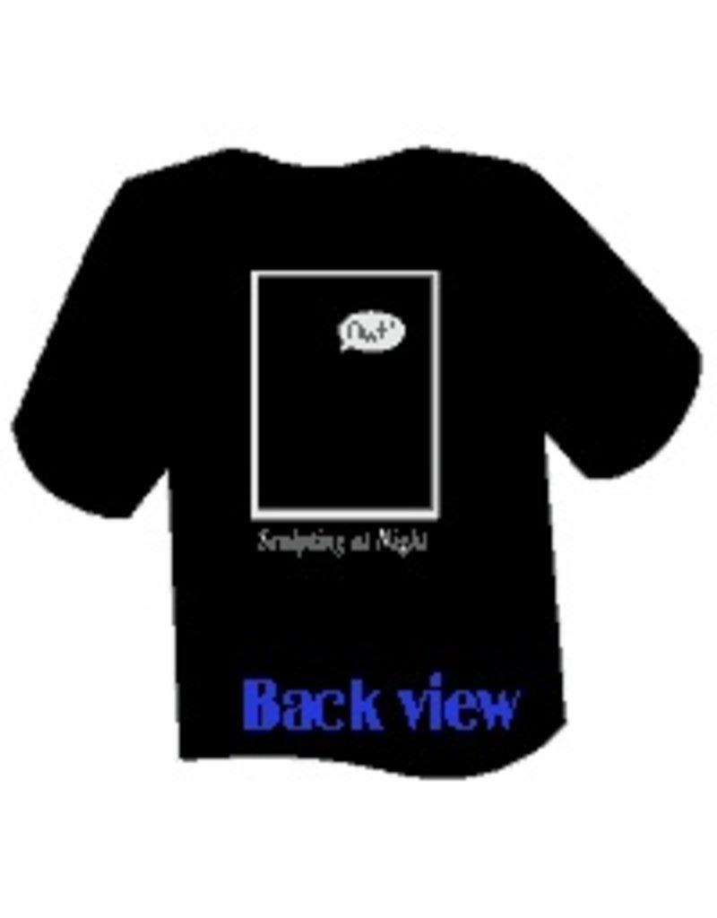 Just Sculpt Black Ouch T-Shirt Medium
