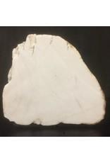 Stone 82lb Tirafsci's White Opaque slab 17x14x6 #111010