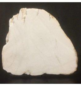 Mother Nature Stone 82lb Tirafsci's White Opaque slab 17x14x6 #111010