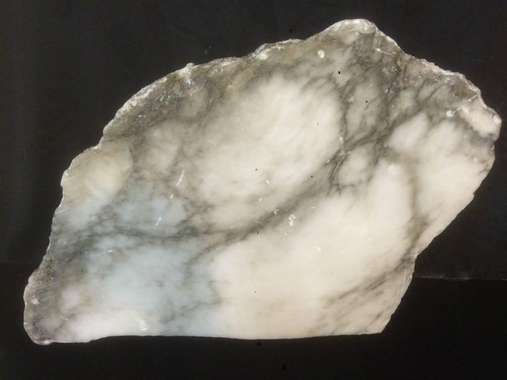 Stone 94lb Scaglione Alabaster Slab 23x18x4.5 #44332230