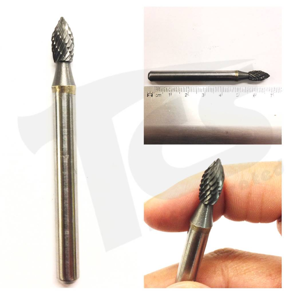Flame Double Cut Carbide Burr SH-1