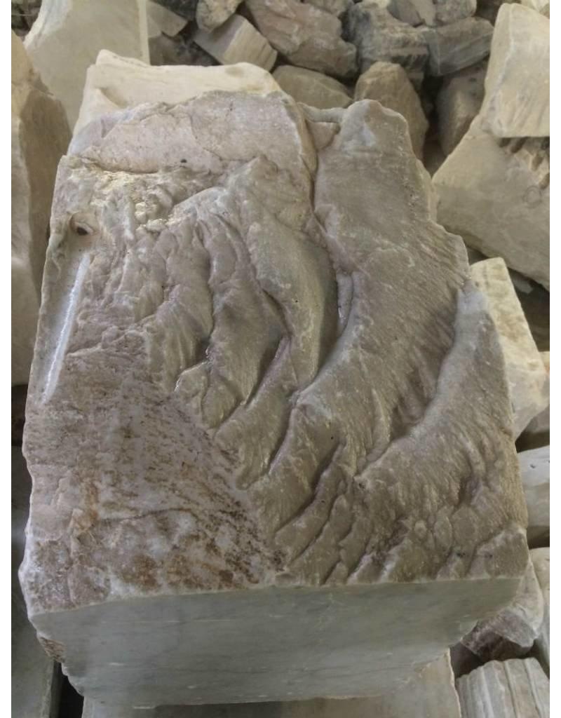 Mother Nature Stone 670lb Carrara Bianco blue/gray 21x21x17 #341015