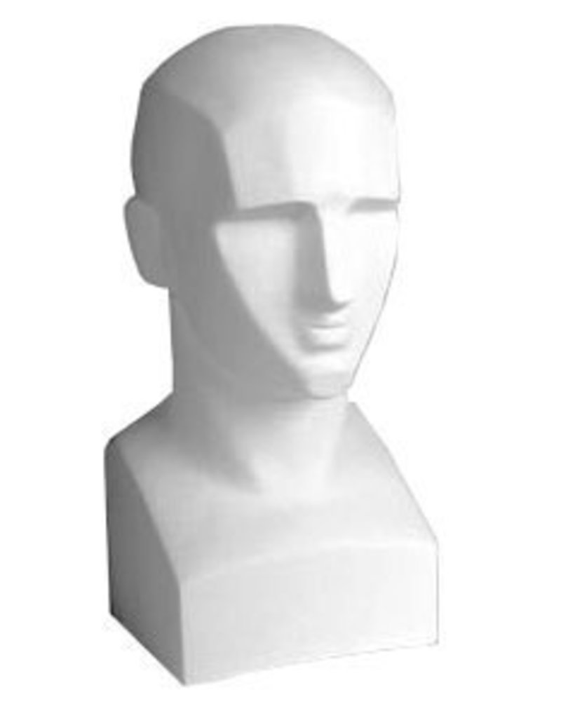 Just Sculpt Plaster Blocked Bust 17in