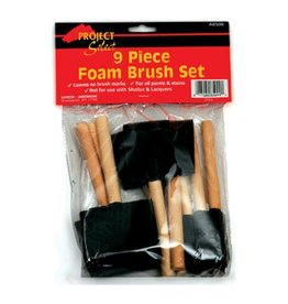 Foam Brush Set, 9 Piece