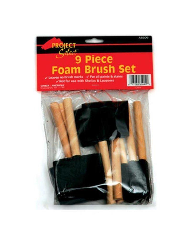 Linzer Foam Brush Set, 9 Piece