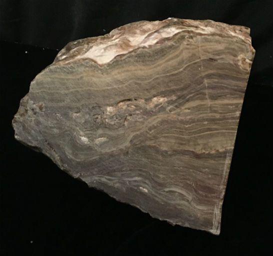 17lb Brown Banded Onyx Stone 9x6x5 #521025