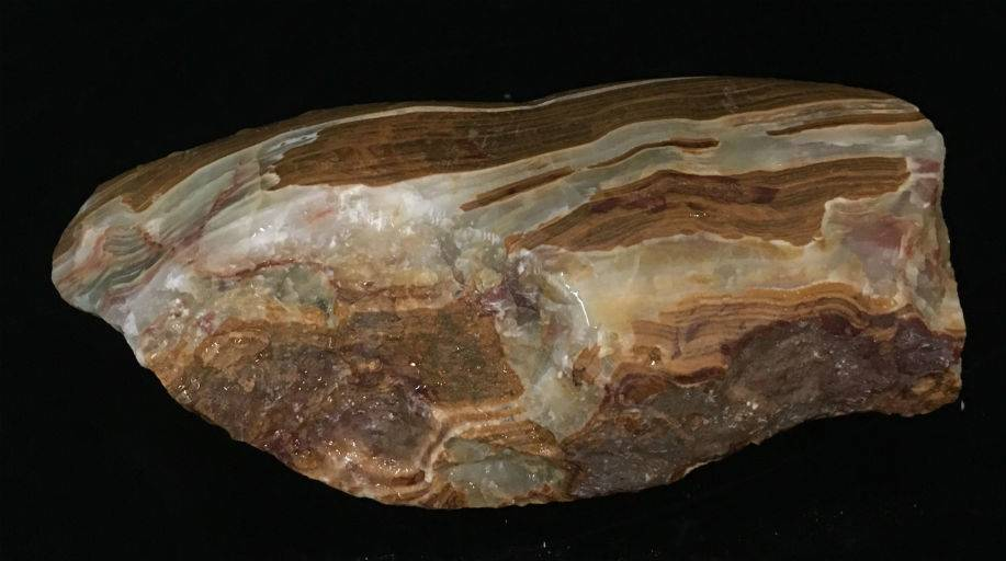 5lb Red Banded Onyx Stone 9x3x2 #521028