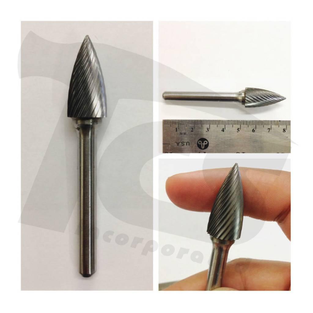 Pointed Tree Single Cut Carbide Burr SG-5