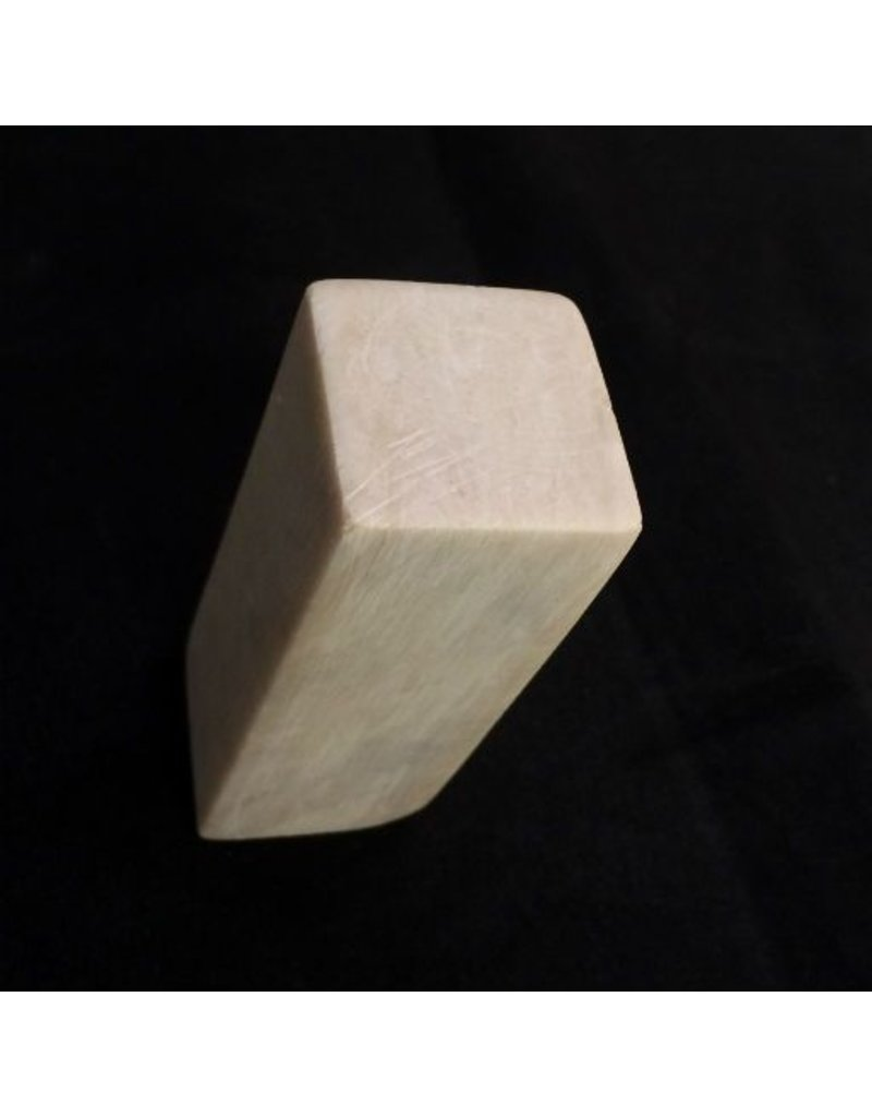 Stone Soapstone White Block 3x1x1 #381012