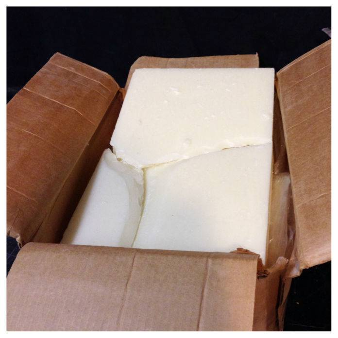 Bleached Bees Wax 55lb Case