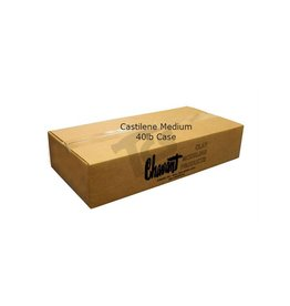 Chavant Castilene Medium Green 40lb Case (2.5lb Blocks)