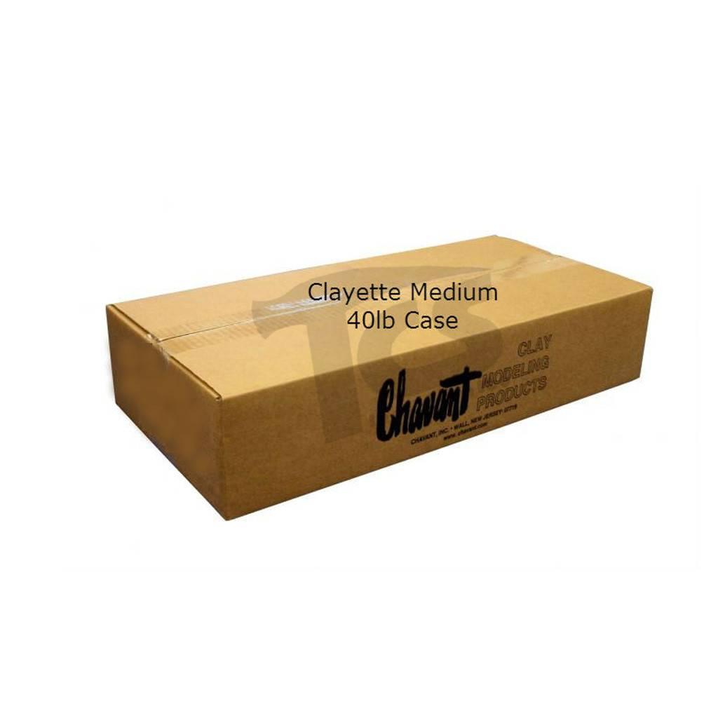 Chavant Clayette Cream Medium 40lb Case (2lb Blocks)