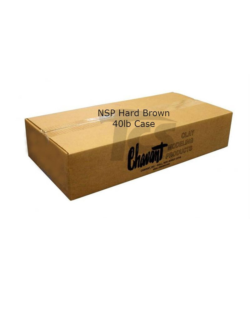 Chavant Chavant NSP Hard Brown 40lb Case (2lb Blocks)
