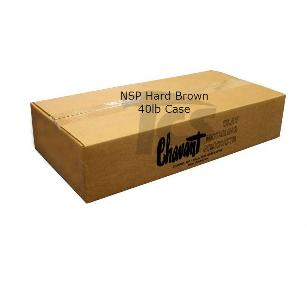 Chavant NSP Hard Brown 40lb Case (2lb Blocks)