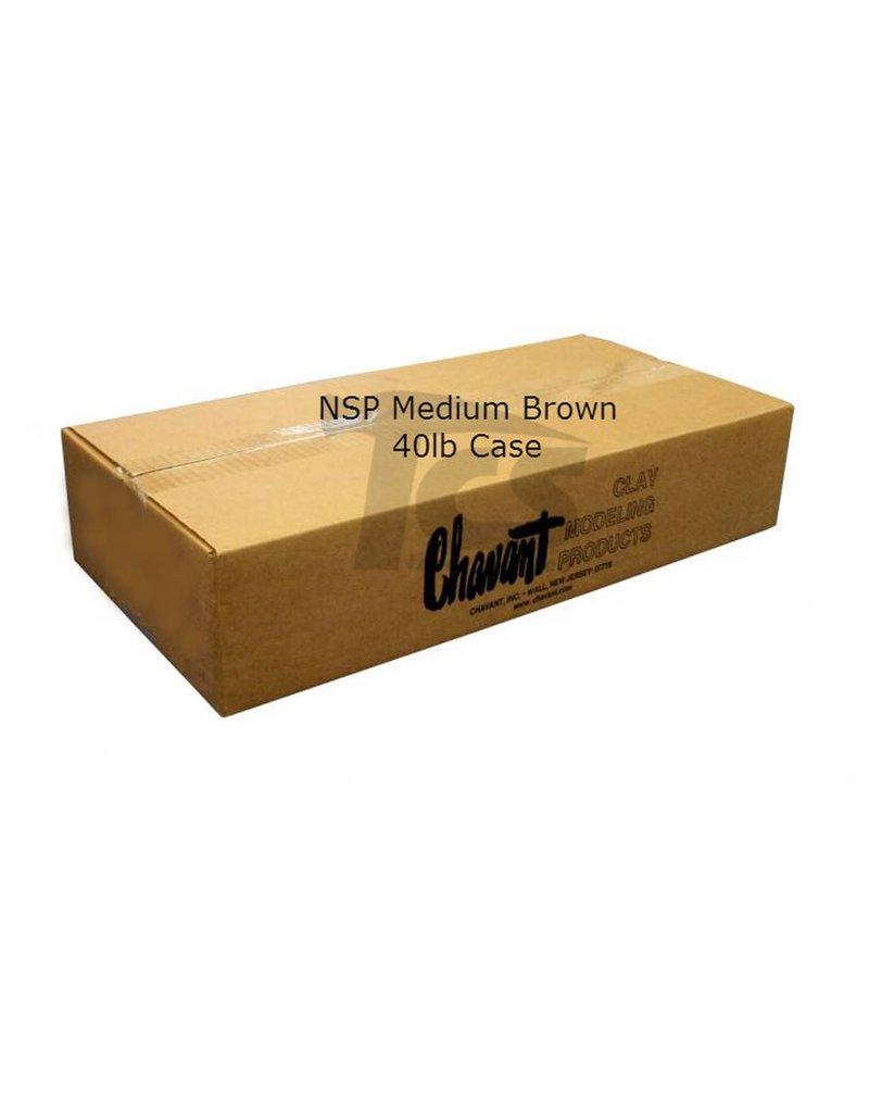 Chavant Chavant NSP Medium Brown 40lb Case (2lb Blocks)