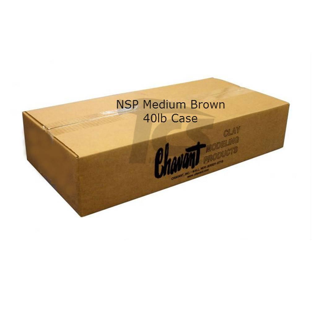 Chavant NSP Medium Brown 40lb Case (2lb Blocks)