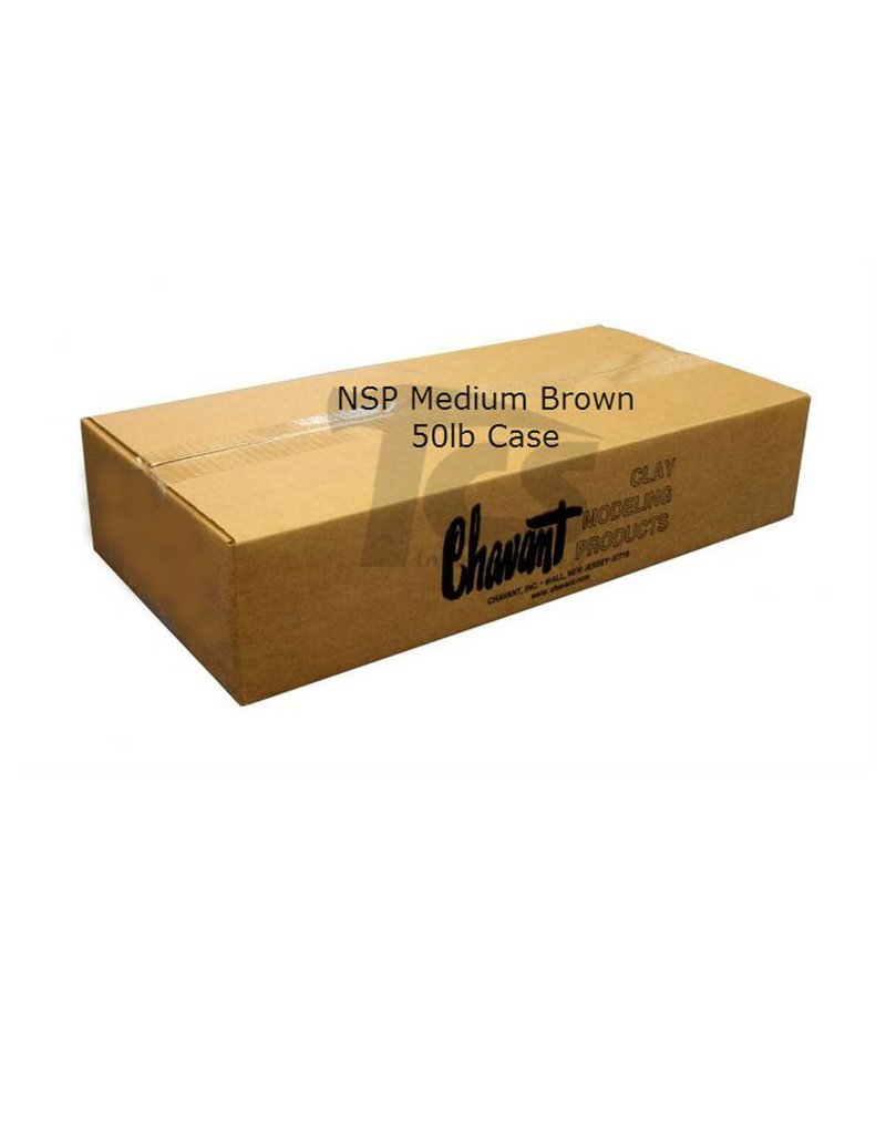 Chavant NSP Medium Brown 50lb Case (10lb Blocks)