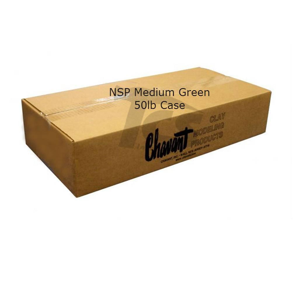 Chavant NSP Medium Green 50lb Case (10lb Blocks)