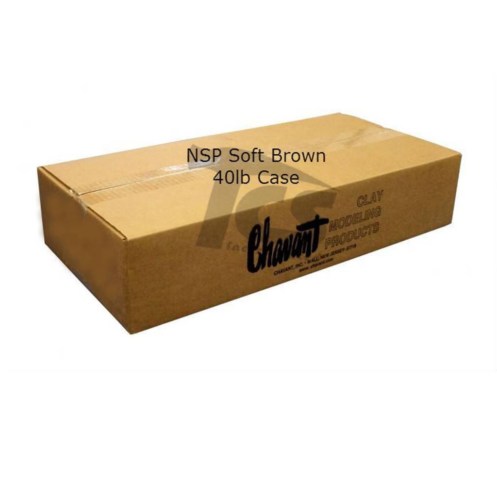 Chavant NSP Soft Brown 40lb Case (2lb Blocks)