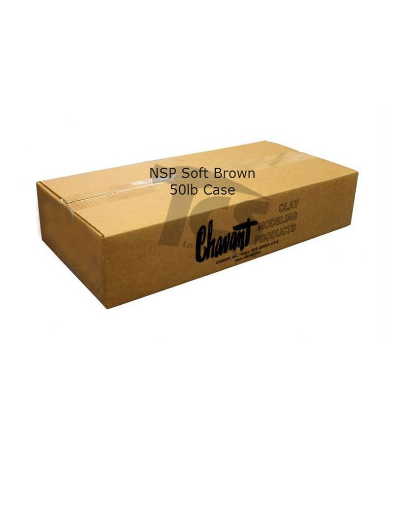 Chavant Chavant NSP Soft Brown 50lb Case (10lb Blocks)
