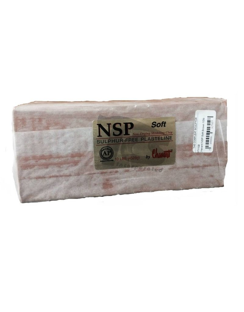 Chavant NSP Soft Brown 50lb Case (10lb Blocks)